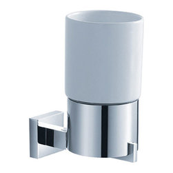 Kraus - Kraus KEA-14404CH  Bathroom Accessories - Wall-mounted Ceramic Tumbler Holder - Kraus  is the premier manufacturer and designer of the bath fixtures and accessories, offering top of the line products that showcase a deft blending of breakthrough technology and aesthetic ardor