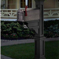 Mailbox Post Solar Light Cap - Great for added visibility of your mailbox and address number, this light fixture is powered by solar energy. For use with specific mailbox posts.