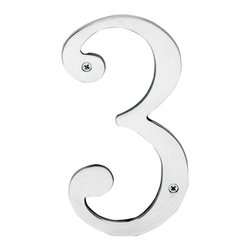 Renovators Supply - House Numbers Chrome House Number - House numbers: Crafted of chrome over solid brass, these die cast numbers measure 8 in. high. Beautiful chrome will withstand the test of time. Includes 2 screws for mounting and 2 wall anchors.