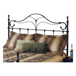 Hillsdale Furniture - Hillsdale Bennett Panel Bed Headboard with Rails - Full/Queen - The Bennett bed is a surprising twist on a traditional style. With elongated finials a sweeping footboard and unique ornamentation, it's not your average old fashioned bed.