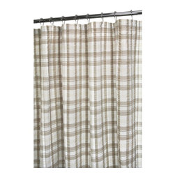 Park B. Smith - Park B Smith Seersucker Plaid Shower Curtain Multicolor - SSPL40-WNL - Shop for Shower Curtains from Hayneedle.com! Get a little wilderness in your life even in the middle of the city with the Park B Smith Seersucker Plaid Shower Curtain. Tan and taupe hues highlight the plaid print of this shower curtain. Its durable 100% cotton fabric will hold up to continued daily use. It's also machine-washable in case your washboard needs a break.