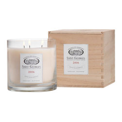 Zodax - Zodax Wine Saint Georges Bordeaux Scented Candle Jar (Set of 2) - Zodax - Candle Holders / Lanterns - IG2134S - Wine Scented Candle Jar in Crate