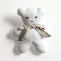 """Cyrus Company Bambino - """"ORSO GIOCO"""" padded teddy bear in cotton and linen available in multiple colors"""