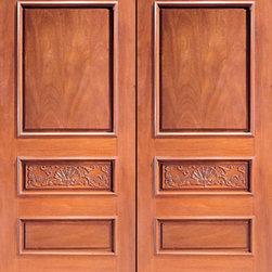 """Prehung Double Door, Hand Carved Colonial 3-Panel in Mahogany - SKU#Carved-1_2BrandAAWDoor TypeExteriorManufacturer CollectionCarved & MansionDoor ModelDoor MaterialWoodWoodgrainMahoganyVeneerPrice2600Door Size Options2(30"""") x Height"""" (5'-0"""" x 6'-8"""")  $02(32"""") x Height"""" (5'-4"""" x 6'-8"""")  $02(36"""") x Height"""" (6'-0"""" x 6'-8"""")  +$202(42"""") x Height"""" (7'-0"""" x 6'-8"""")  +$3402(36"""") x Height"""" (6'-0"""" x 7'-0"""")  +$4202(30"""") x Height"""" (5'-0"""" x 8'-0"""")  +$9402(32"""") x Height"""" (5'-4"""" x 8'-0"""")  +$9402(36"""") x Height"""" (6'-0"""" x 8'-0"""")  +$9602(42"""") x Height"""" (7'-0"""" x 8'-0"""")  +$960Core TypeSolidDoor StyleColonialDoor Lite StyleDoor Panel Style8 Panel , Hand Carved Panel , Raised PanelHome Style MatchingMediterranean , Victorian , Old World , Elizabethan , Pueblo , SuburbanDoor ConstructionTrue Stile and RailPrehanging OptionsPrehungPrehung ConfigurationDouble DoorDoor Thickness (Inches)1.75Glass Thickness (Inches)Glass TypeGlass CamingGlass FeaturesGlass StyleGlass TextureGlass ObscurityDoor FeaturesDoor ApprovalsDoor FinishesDoor AccessoriesWeight (lbs)850Crating Size25"""" (w)x 108"""" (l)x 52"""" (h)Lead TimeSlab Doors: 7 daysPrehung:14 daysPrefinished, PreHung:21 daysWarranty1 Year Limited Manufacturer WarrantyHere you can download warranty PDF document."""
