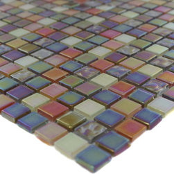 "Sample Whimsical Fairy Dust - sample-WHIMSICAL FAIRY DUST 1/4 SHEET GLASS TILES SAMPLE You are purchasing a 1/4 sheet sample measuring approximately 6"" x 6"". Samples are intended for color comparison purposes, not installation purposes.-Glass Tiles -"