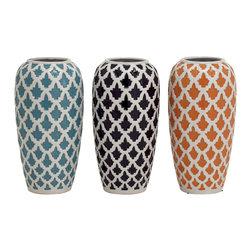Charming And Exclusive Ceramic Vase, Set of 3 - Description:
