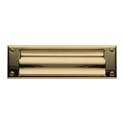 Baldwin Hardware - Magazine Size Open Letter Box Plate in Lifetime Polished Brass (0015.003) - Feel the difference - Baldwin hardware is solid throughout, with a 60 year legacy of superior style and quality. Baldwin is the choice for an elegant and secure presence. Baldwin guarantees the beauty of our finishes and the performance of our craftsmanship for as long as you own your home.