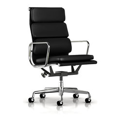 Herman Miller - Eames Soft Pad Executive Chair | Smart Furniture - The Eames Soft Pad chair makes short work of your long days. This is form meets function with a lot of comfort thrown in. It's designed to make your workday more comfortable while its modern, cutting edge design makes you look good.
