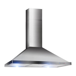 "AKDY - AKDY AK-Z63190 Euro Stainless Steel Wall Mount Range Hood, 36"" - AKDY decorative 36"" 631 combines heavy gauge stainless steel to create a light and airy environment, this will be a perfect centerpiece for any contemporary kitchen. This gently flowing design is powered by a 760 CFM blower that can handle the demands of any modern kitchen. The high-tech electronic controls manages the lighting and blower speeds."