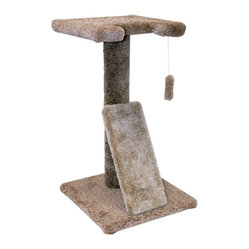 "MAJESTIC PET PRODUCTS - 30"" Kitty Cat Scratch Perch - Provide your kitty with a playful perch and opportunities to pounce, stretch and rest with this carpeted cat tree. Save your sofa by giving your feline friend a place to dig in their claws and bat at the dangling toy, with this easily assembled post."