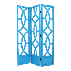 Wayborn - Wayborn Charleston Room Divider in Teal - Wayborn - Room Dividers - 2395T -
