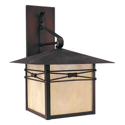 Maxim Lighting - Maxim Lighting 8042IRBU Taliesin 1 Light Outdoor Wall Lights in Burnished - Taliesin is a transitional style collection from Maxim Lighting International in three finishes, Burnished, Country Stone or Pewter with Iridescent glass.