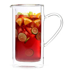 Luigi Bormioli - Luigi Bormioli  50 oz. Double wall Pitcher - Luigi Bormioli's double-wall glassware keeps hot drinks hot and easy to handle, and cold drinks cold without the usual condensation.