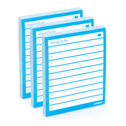 "Poppin - Task Pad, Pool Blue - Did you remember to pick up the dry cleaning yesterday? Now you can't forget with this nifty task pad. With a colorful list like this, those ""10 things to do"" suddenly feel accomplished already."