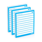 Poppin - Task Pad, Pool Blue - Remember to do exactly these 10 things each day.