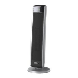 Lasko - Oscillating Ceramic Tower Heater with Logic Remote - The Lasko 5586 Oscillating Ceramic Tower Heater has an elongated ceramic heating element to extend your comfort zone. Comfort Air technology propels warmth into the room while the widespread oscillation spreads it throughout the room. Two quiet comfort settings and an energy-saving 8-Hour timer allow you to make adjustments to achieve optimal comfort. Plus, the convenient Logic Center electronic remote control with digital LED display gives you the option to change settings without moving from the couch. Ceramic tower heater provides 1500 watts of comforting warmth.