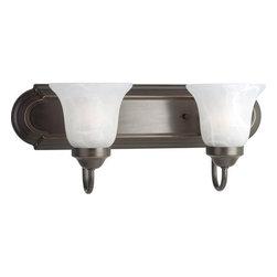 Progress Lighting - Progress Lighting P3052-20 Builder Bath Series Two-Light Bathroom Fixture - Features: