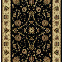 """Orian - Orian American Heirloom Westbury (Black) 3'11"""" x 5'5"""" Rug - American Heirloom Collection, Orian Rugs' flagship collection is inspired by classic, hand-woven oriental rugs that combine understated elegance with classic style. The 1.5 million point design construction is densely woven with Orian's finest-denier yarns creating unparalleled visual dimension and pin point design clarity."""