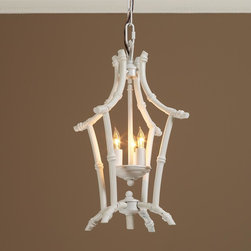 Bamboo Lantern - The simple and sweet lines of this lantern would be ideal in a cozy little reading nook.