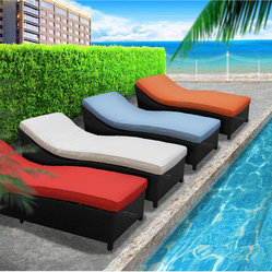 Surmount Outdoor Wicker Patio Chaise Lounge Set