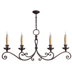 mediterranean chandeliers by Hacienda Lights and Iron