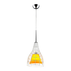 Bromi Design Nixon Yellow Glass Lighting Pendant
