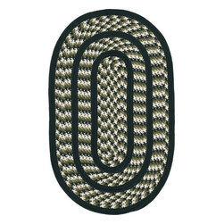 Safavieh - Safavieh Braided BRD401B 5' x 8' Oval Ivory, Dark Green Rug - Introducing Safavieh's Braided rug collection. Hand made in India and China, the vibrant colors make selecting the rug easy to match the decor in any room and are reversible to give excellent value.