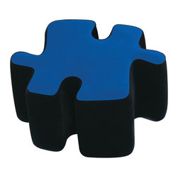 LUMISOURCE - Lumisource Puzzotto, Blue - Puzzled about new seating or decorations? Try the Puzzotto! A fun addition to any room, the Puzzotto is a multi-functional upholstered ottoman. Fit several puzzle-pieces together to make a coffee table or separate them for extra seating when friends come to visit. As a group, they're even comfortable enough to use as a guest bed.