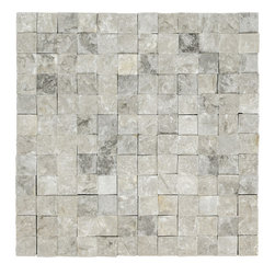 STONE TILE US - Stonetileus 4 pieces (4 Sq.ft) of Mosaic Silver 1x1 Split Face - STONE TILE US - Mosaic Tile - Silver 1x1 Split Face Specifications: Coverage: 1 Sq.ft size: 1x1 - 1 Sq.ft/Sheet Piece per Sheet : 144 pc(s) Tile size: 1x1 Sheet mount:Meshed back Stone tiles have natural variations therefore color may vary between tiles. This tile contains mixture of white - Black - silver - light gray - dark gray - and color movement expectation of low variation, The beauty of this natural stone Mosaic comes with the convenience of high quality and easy installation advantage. This tile has Split Face surface, and this makes them ideal for walls, kitchen, bathroom, outdoor, Sheets are curved on all four sides, allowing them to fit together to produce a seamless surface area. Recommended use: Indoor - Outdoor - High traffic - Low traffic - Recommended areas: Silver 1x1 Split Face tile ideal for walls, kitchen, bathroom,Free shipping.. Set of 4 pieces, Covers 4 sq.ft.