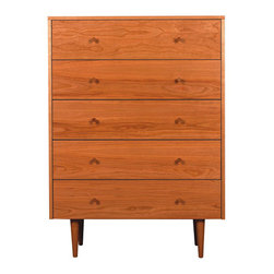 Skovby - Asher 5-Drawer Dresser - Asher 5 Drawer Dresser by Spectra Modern
