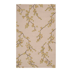 Surya - Surya Rain Parchment Blossoms Rectangle Area Rug - Surya Rain Parchment Blossoms Rectangle Area RugBeautiful decor shouldn't stop at the front door. Show off your style indoors and outside with Surya's Rain Parchment Blossoms Rectangle Area Rug. Manufactured to withstand the elements, this all-weather area rug is made from durable, handhooked polypropylene. Just hose it off to keep it looking fresh in any season. The contemporary blossom pattern looks organic chic against a neutral background and is the perfect way to strike a relaxed mood in your outdoor space. Go for great design, rain or shine, with this indoor-outdoor stunner from Surya.100% handhooked polypropyleneMedium pileSafe for outdoor useAvailable in four sizesMade in China