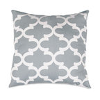 Majestic Home Goods - Gray Trellis Large Pillow - Add a splash of color and a little texture to any room with these plush pillows by Majestic Home Goods. The Majestic Home Goods pillow will instantly lend a comfortable look to your living room, family room or bedroom. Whether you are using them as decor throw pillows or simply for support, Majestic Home Goods pillows are the perfect addition to your home. These throw pillows are woven from Cotton Twill, and filled with Super Loft recycled Polyester Fiber Fill for a comfortable but durable look. Spot clean only.