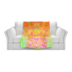 DiaNoche Designs - Throw Blanket Fleece - Firefly - Original Artwork printed to an ultra soft fleece Blanket for a unique look and feel of your living room couch or bedroom space.  DiaNoche Designs uses images from artists all over the world to create Illuminated art, Canvas Art, Sheets, Pillows, Duvets, Blankets and many other items that you can print to.  Every purchase supports an artist!