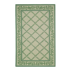 """Safavieh - Transitional Chelsea 3'9""""x5'9"""" Rectangle Ivory - Light Green Area Rug - The Chelsea area rug Collection offers an affordable assortment of Transitional stylings. Chelsea features a blend of natural Ivory - Light Green color. Hand Hooked of Wool the Chelsea Collection is an intriguing compliment to any decor."""