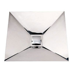 Whitehaus Collection - Whitehaus WHNCMB002 Stainless Steel Square Wall Mount Bathroom Basin Sink - Stylish and modern design brings irresistible innovative touch into your bathroom. Stainless steel square wall mount bathroom basin sink by Whitehaus combines contemporary decor with modern high arched design. This square wall mount stainless steel bath sink with smooth surface finish will keep clean and attractive looking for a long time.