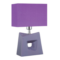 Lite Source - Table Lamp - Purple/Purple Fabric Shade - Table Lamp - Purple/Purple Fabric Shade