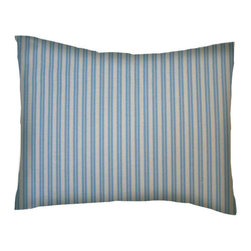 SheetWorld - SheetWorld Twin Pillow Case - Blue Dual Stripe - Made in USA - Pillow case is made of a durable all cotton percale material. Fits a standard twin size pillow. Features beautiful Blue Dual Stripe.