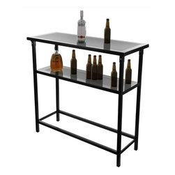 Trademark Global - NASCAR 2 Shelf Portable Bar w Case - Convenient carrying case included. Beverages not included. Two shelves. Collapsible for easy transport and storage. Huge full color officially licensed NASCAR wrap. Made from metal. No assembly required. Bar top: 39 in. W x 15 in. H. Assembled bar: 36 in. H. Overall: 39 in. W x 15 in. D x 36 in. H (31 lbs.)This Officially Licensed NASCAR Portable Bar will ensure your next picnic or BBQ is a hit! It is also a great space saver for apartments and small homes. The Deluxe Portable Bar has two shelves which provide more than enough space for all your drinks and accessories. It is constructed of metal and has four strong legs. The bar collapses for easy space saving storage and includes a convenient carrying case for transportation.