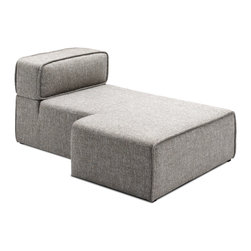 Bryght - Acura Left Sectional Chaise - The Acura Collection looks perfect in a modern home with its firm yet comfortable foam filling and sophisticated grey upholstery. The Acura can be easily customized to your needs which makes it great for small and large spaces alike.