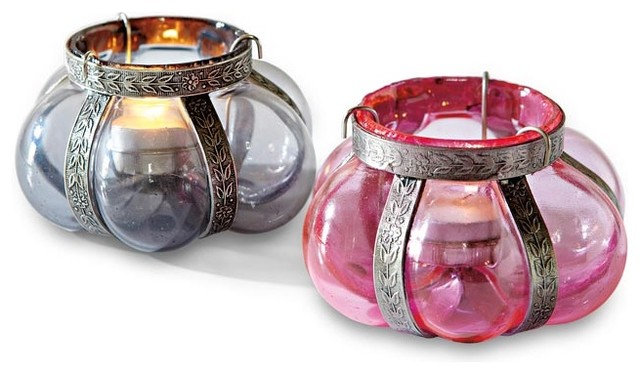 Modern Candles And Candle Holders Blown Glass Tealight Holders