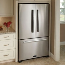 """AGA - APRO36FD-IVY 36"""" 19.8 cu. ft. Counter-Depth French Door Refrigerator  Energy Sta - This 198 cu ft counter-depth french door refrigerator comes with 4 adjustable glass shelves humidity controlled drawers internal water dispenser and ice maker"""