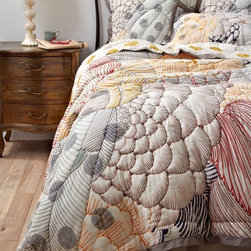 Arrosa Quilt - It's time to switch the lightweight linens out for some cushy covers. Cocoon yourself in this gorgeously eclectic quilted bedding.