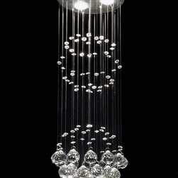 Raindrop Crystal Chandelier - These raindrop crystals would be perfect for any bathroom.