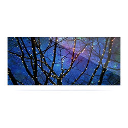 """Kess InHouse - Sylvia Cook """"Holiday Lights"""" Christmas Metal Luxe Panel (9"""" x 21"""") - Our luxe KESS InHouse art panels are the perfect addition to your super fab living room, dining room, bedroom or bathroom. Heck, we have customers that have them in their sunrooms. These items are the art equivalent to flat screens. They offer a bright splash of color in a sleek and elegant way. They are available in square and rectangle sizes. Comes with a shadow mount for an even sleeker finish. By infusing the dyes of the artwork directly onto specially coated metal panels, the artwork is extremely durable and will showcase the exceptional detail. Use them together to make large art installations or showcase them individually. Our KESS InHouse Art Panels will jump off your walls. We can't wait to see what our interior design savvy clients will come up with next."""