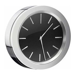 Smedbo - Smedbo Clock Chrome/Black, Dia 2 1/2 Inch Batteries Included - Smedbo Clock Chrome/Black, Dia 2 1/2 Inch Batteries Included