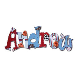 RR - Andrew Playground Hand Painted Wall Letters - Playground Hand Painted Wall Letters