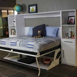 Create an Organized Kids Room - School Supplies for Back to School ~ a Murphy DESK Bed from Murphy Bed Concepts.