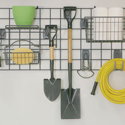 freedomRail - Organized Living freedomRail Granite Wire Grid - The Organized Living Activity Organizer Wire Grid is used to mount Activity Organizer components to the garage wall to create an adjustable and space saving storage solution for you and your family.