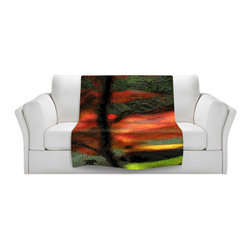 DiaNoche Designs - Fleece Throw Blanket by Hooshang Khorasani - Natures Brushwork - Original Artwork printed to an ultra soft fleece Blanket for a unique look and feel of your living room couch or bedroom space.  DiaNoche Designs uses images from artists all over the world to create Illuminated art, Canvas Art, Sheets, Pillows, Duvets, Blankets and many other items that you can print to.  Every purchase supports an artist!