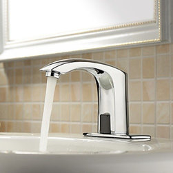 Bathroom Sink Faucets - 4 Inch Brass Bathroom Faucet with Automatic Sensor (Cold)--faucetsmall.com